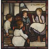 Louis Comfort Tiffany preparatory design for Little Orphant Annie memorial stained glass window;