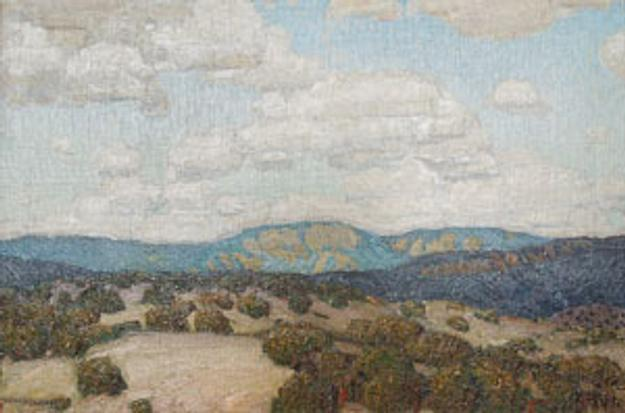 Victor Higgins, New Mexico Sky, oil on canvas, c.  1922-23
