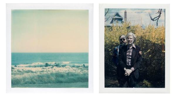LEFT: ANDY WARHOL, Ocean View, unique polaroid print, Executed circa 1975 RIGHT: ANDY WARHOL, Andy Warhol and Henry Geldzahler, unique polaroid print mounted on board, Executed circa 1979