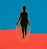 Idelle Weber (b.  1932) Jump Rope Lady, 1966 Collage with Color-aid paper 12 5/8 x 12 inches