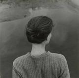 Emmet Gowin, American, 1941; Edith, Chincoteague, Virginia, 1967, printed 1976; gelatin silver print; 10 x 8 inches, image: 6 1/8 x 6 1/4 inches, Saint Louis Art Museum, Funds given by the National Endowment for the Arts and matching funds given by an anonymous donor 3:1978 © Emmet Gowin; courtesy Pace/MacGill Gallery, New York