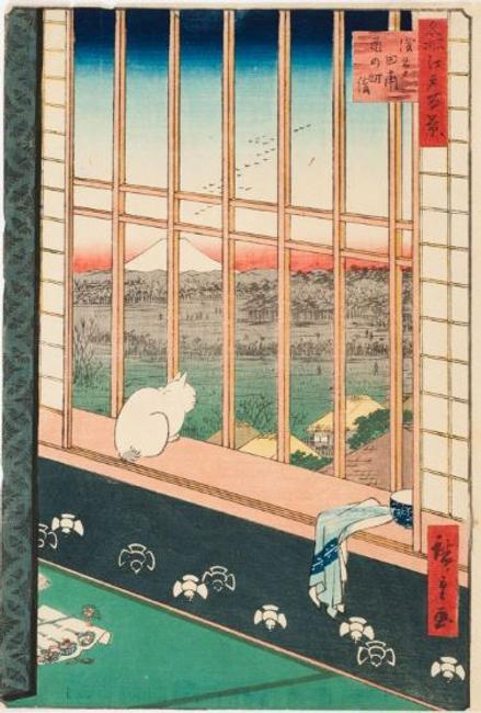 Utagawa Hiroshige (1797–1858), Japan, No.  101, Asakusa Ricefields during Tomomachi Festival from the series 100 Famous Views of Edo, 1857, color woodcut, Joel and Bernice Weisman Collection in memory of Jay Weisman, L7.2014:280