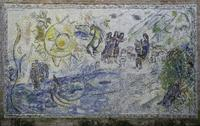 Marc Chagall, Untitled, 1971.  Stone and glass mosaic.  National Gallery of Art, The Nef Collection.