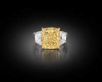 Less than 1/1,000,000th of all yellow diamonds are graded as Natural Fancy, and even fewer bear the Intense color grading of this spectacular specimen