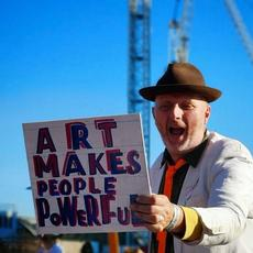 Bob & Roberta Smith, Art Car Boot Fair, King's Cross, London, 2018 © Mathew Kelly