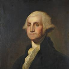 "At Keno Auctions, Gilbert Stuart (American 1755-1828) ""ISRAEL KINSMAN"" PORTRAIT OF GEORGE WASHINGTON.  Oil on canvas.  30 ½ x 25 ½ in.  Estimate: $300,000-600,000"