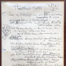 Original handwritten lyrics to the classic 1956 Elvis Presley hit song Heartbreak Hotel, written in 1955 by Mae Boren Axton, a high school teacher, and Tommy Durden, a singer-songwriter.