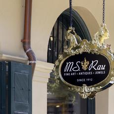 M.S.  Rau Gallery Sign