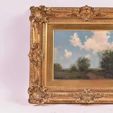 "Fine art will feature two superb works by Julian Onderdonk (Texas/New York, 1882-1922) an Impressionist artist who is often called ""the father of Texas painting"".  One is shown here."