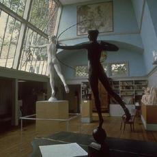 nterior showing sculptures at Saint-Gaudens National Historic Site in Cornish, New Hampshire.  Image cropped from a National Park Service photo