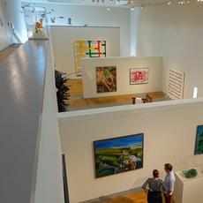 Interior view of the Charles Shipman Payson Building, Portland Museum of Art in Portland, Maine.