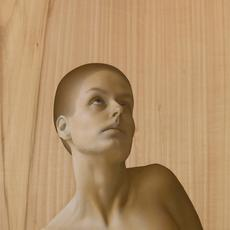 Kle Mens, St.  Agatha with breast cut off, oil on panel, 54x27 cm, 2015