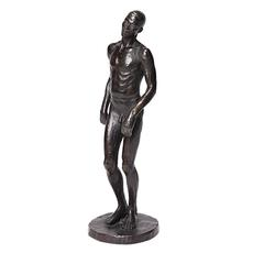 Richmond Barthé, African Boy Dancing, cast bronze with dark brown patina, 1937.  Estimate $150,000 to $250,000.
