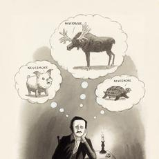 Charles Addams, Nevermore, watercolor, ink & correction fluid, cartoon for The New Yorker, 1973.  Estimate $12,000 to $18,000.