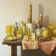 Claudio Bravo Marjana amarillo / Yellow Marjana, 2008 oil on canvas 51 1/8 x 63 3/4 inches