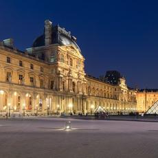 Courtyard of the Louvre, with I.M.  Pei's Pyramid.