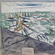 John Marin (1870-1953), Deer Isle, Maine, Flowing Sea, 1924, Watercolor on paper, 18 x 21 inches