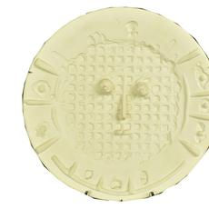 "Ceramic charger by Pablo Picasso for Madoura in 1956, titled Visage a la Grille, 16 ½ inches in diameter, #50 of 100, stamped on verso ""Empreinte Originale de Picasso"" (est.  $3,000-$5,000)."