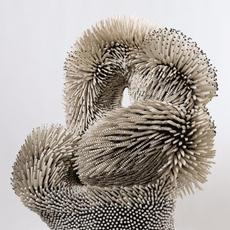 Zemer Peled, Under the Arch, 2016 Porcelain shards, ceramic, wooden base 63 × 36 × 36 in