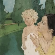 Mary Cassatt, American (1845-1926) By the Pond, 1898.  Color aquatint and drypoint, 15 1/2 ~ 18 15/16 in.  Gift of Judge Richard J.  and Catherine Clarke Cardamone, 2015.5.3