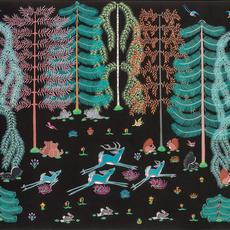 Pop Chalee (Merina Lujan) (Taos Pueblo, 1906-1993), Enchanted Forest, ca.  1950, Gouache on paper, 21 x 25 inches.