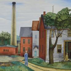 "O.  Louis Guglielmi, ""Land of Canaan,"" 1934, oil on canvas, 30 x 36 inches."