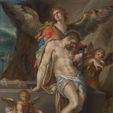 "Bartholomeus Spranger's ""Body of Christ Supported by Angels"""