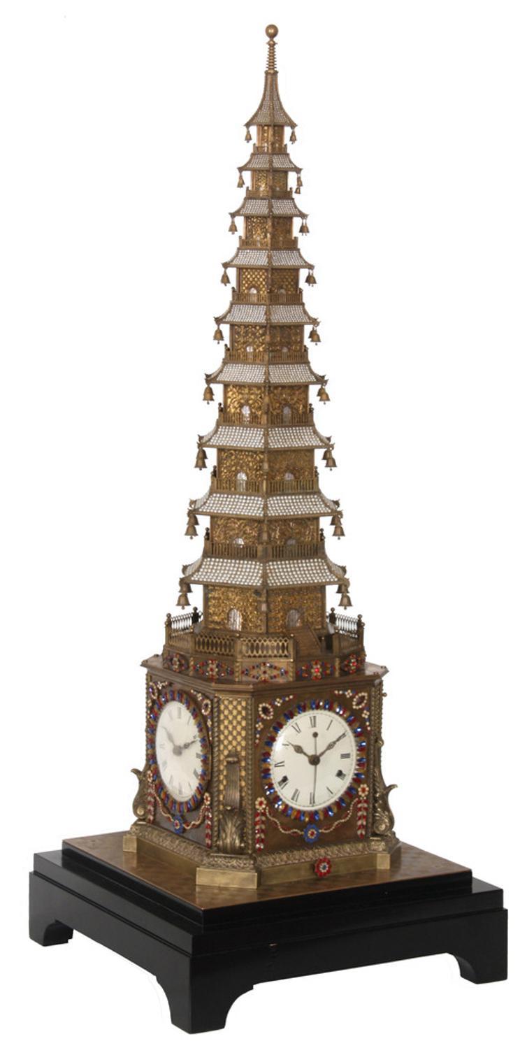 Rare 18th Century English Made Pagoda Form Automaton