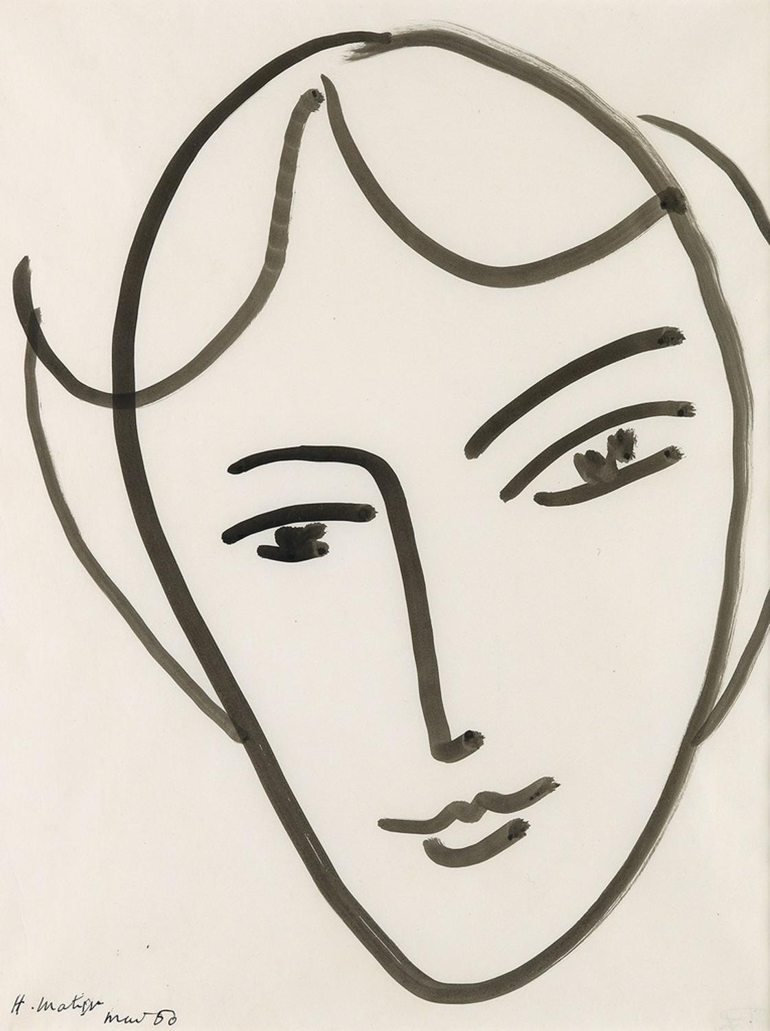Line Drawing By Matisse : Works by matisse klee picasso among highlights of swann