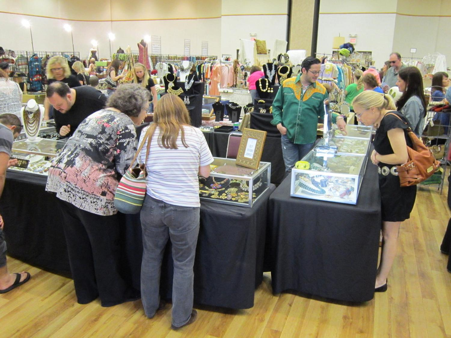hundreds visit the dallas vintage clothing and jewelry