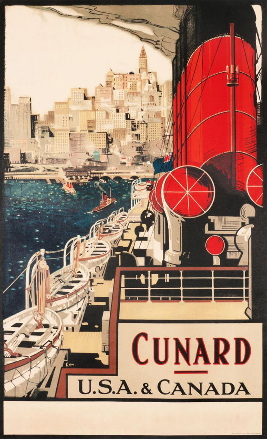 Titans Of The Sea Vintage Advertising Posters From The
