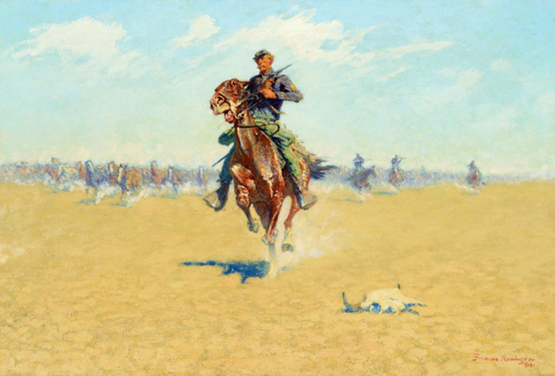 Remington Calendar Art : Remington painting brings m rockwell reaches at