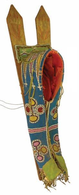 Early 1900s Native American Kiowa cradleboard could