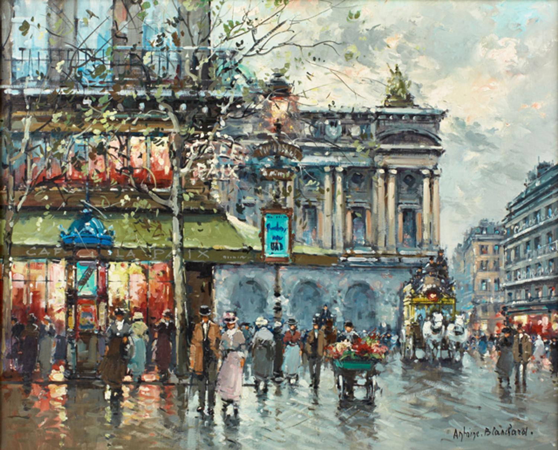 Parisian Street Scene By Antoine Blanchard 1910 1988 Will Be Part