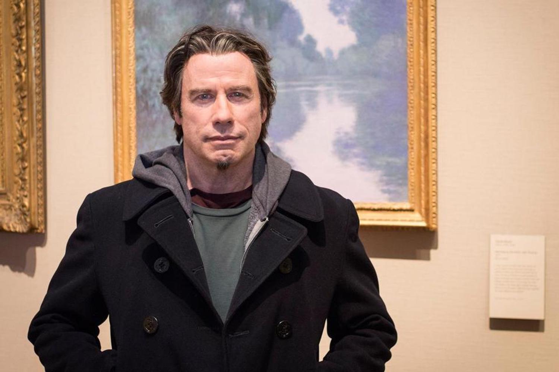 John Travolta Studies Art Forgery For The Forger Filmed