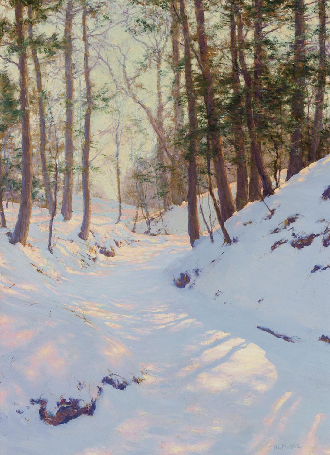Snowy Landscape Scene By Walter Launt Palmer Fetches