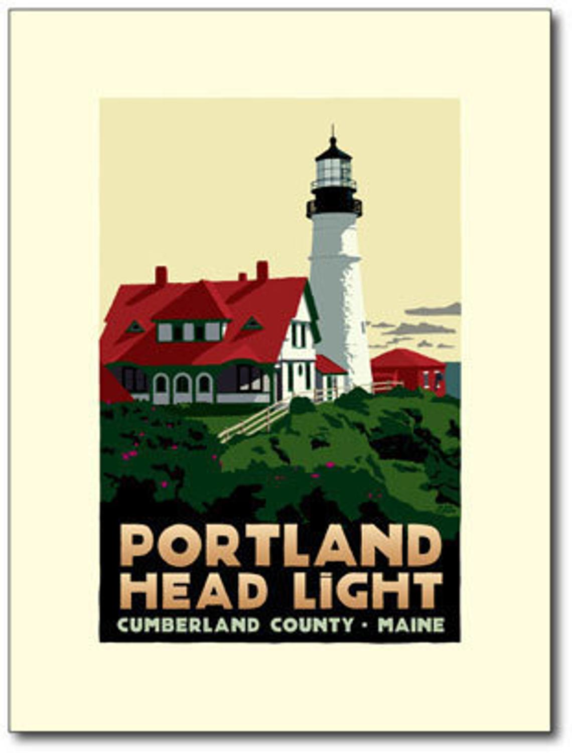 An Ode To Lighthouses Alan Claudes Travel Posters on European Antiques Furniture