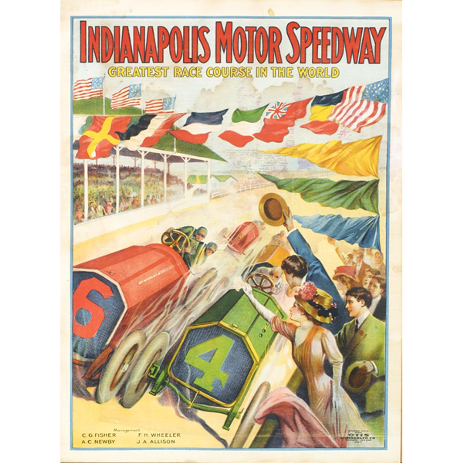 1909 indianapolis motor speedway from cagle estate brings for The indianapolis motor speedway