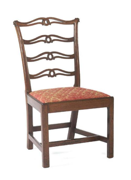 "GEORGE WASHINGTON'S PHILADELPHIA CHIPPENDALE CARVED MAHOGANY ""RIBBON-BACK"" SIDE CHAIR."