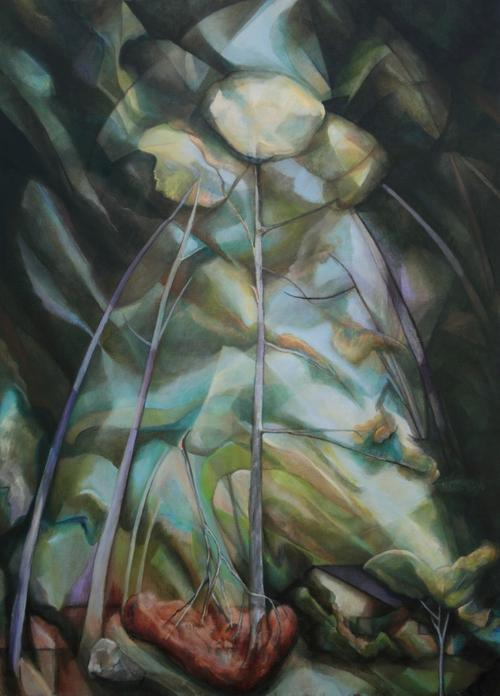 "Broken Branch III, 2012, oil on linen, 66"" x 48"""