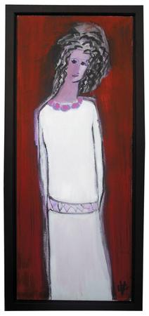 'Joyce Carol Oates as Heroine' 2012 Acrylic 57.5 x 25 in.