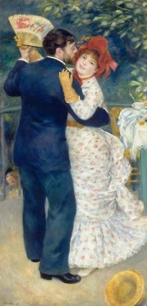 Pierre-Auguste Renoir (1841–1919), A Dance in the Country, 1883.  Oil on canvas, 70 7/8 x 35 ½ inches.  © RMN (Musée d'Orsay)/Hervé Lewandowski