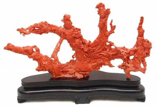 Items similar to this Chinese red coral sculpture depicting Guan Yin will be sold November 23rd.