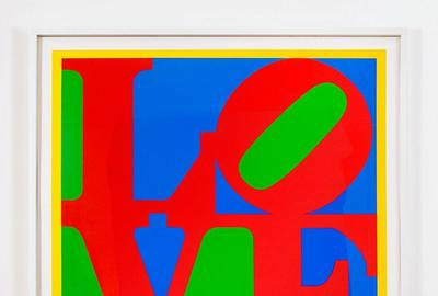 Robert Indiana Heliotherapy Love, 1995