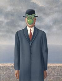 René Magritte, Son of Man, 1964; oil on canvas; private collection; © Charly Herscovici, Brussels / Artists Rights Society (ARS), New York