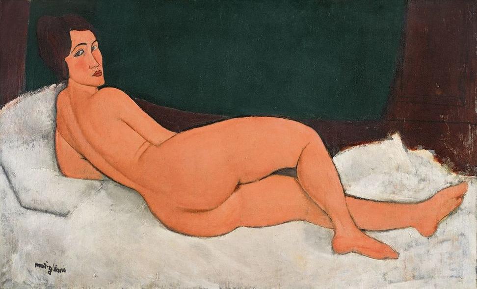 """Amedeo Modigliani, """"Nu couche (sur le cote gauche),"""" 1917."""