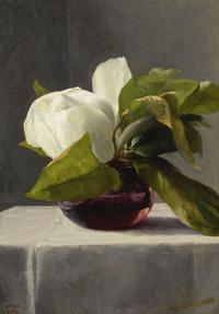 JOHN LAFARGE, Magnolia, 1863, Oil on panel.