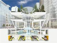 Rendering of the Salesforce Transit Center.  Pelli Clarke Pelli Architects.