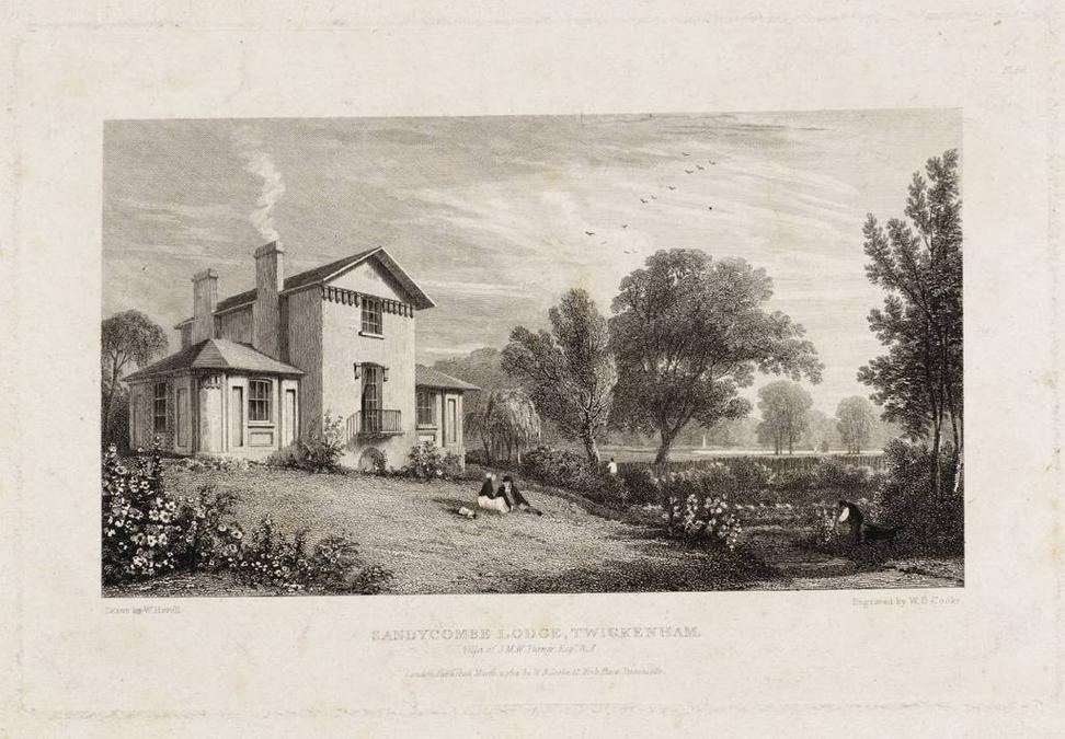 Sandycombe Lodge, 1814, W.  B.  Cooke after William Havell - Tate Britain.