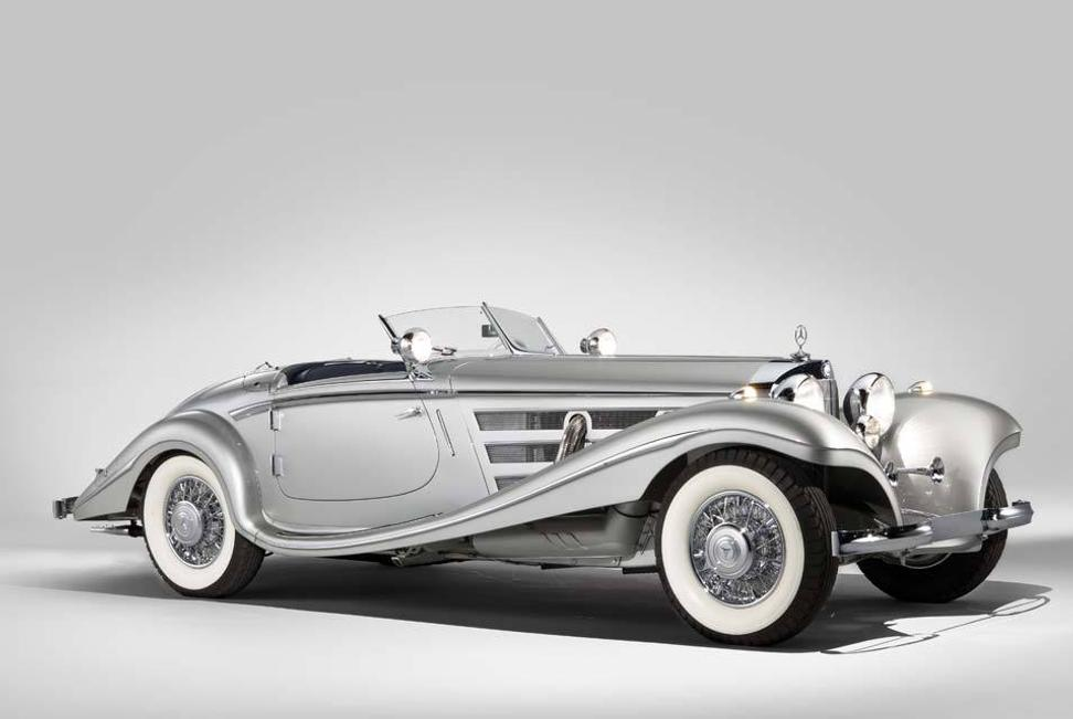 A new world record for a Mercedes-Benz sold at auction was garnered by this 1937 Mercedes-Benz 540 K Spezial Roadster which fetched $9.68 million at RM Auctions in Monterey, CA., on Aug.  20, 2011.